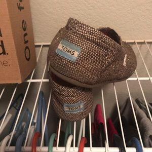 TOMS Glitter Shoes- Brown